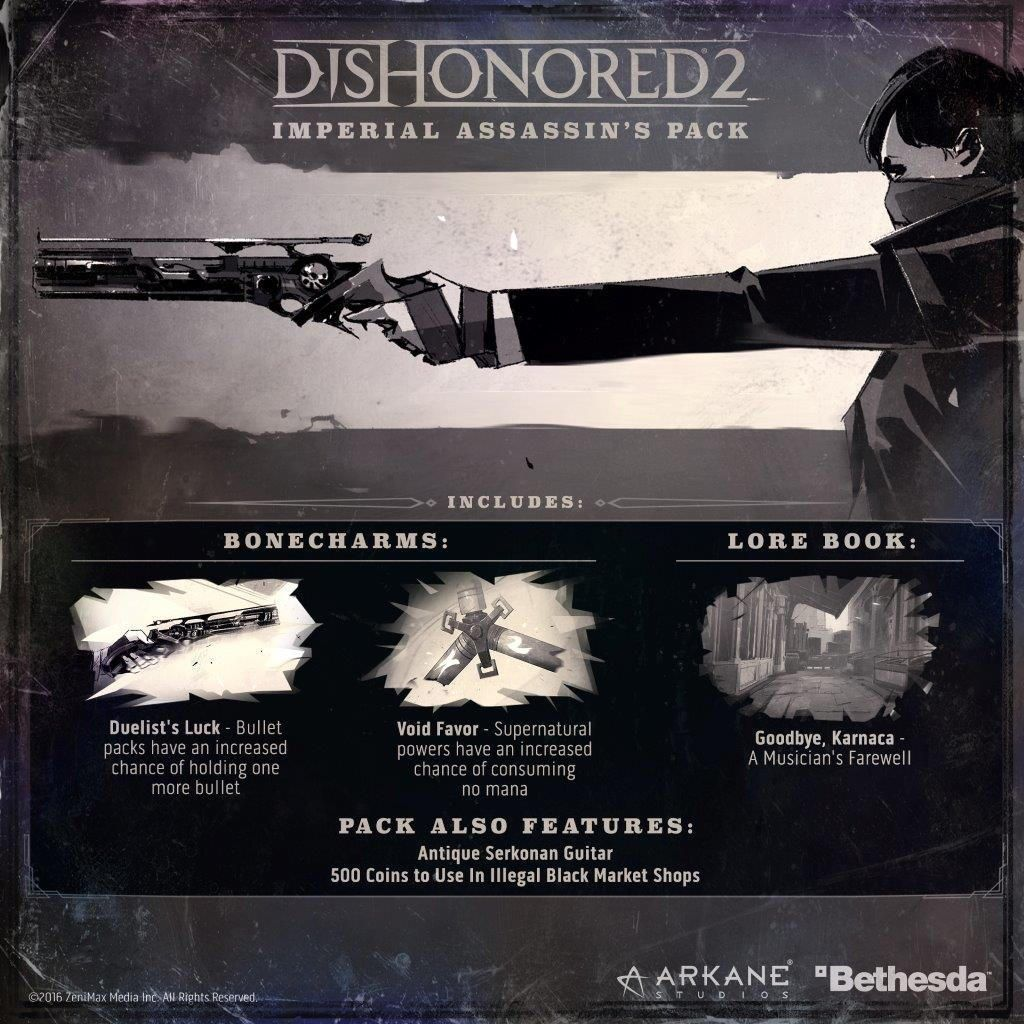 Dishonored 2 Imperial Assassin S Pack