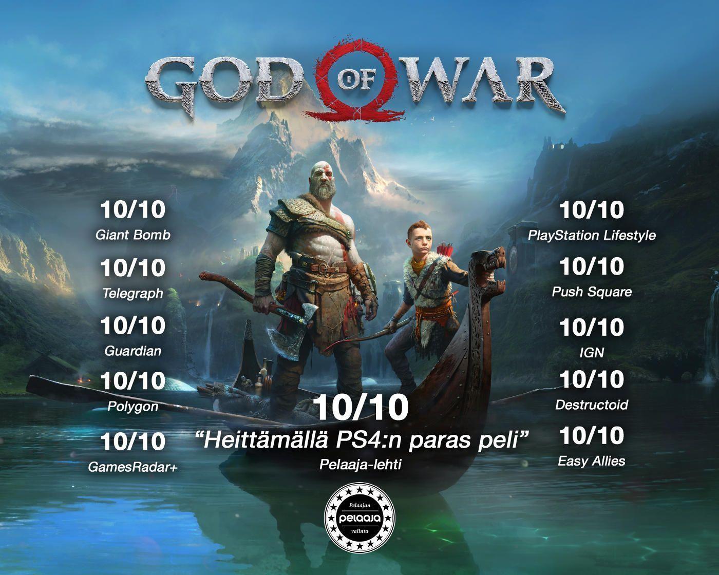 God Of War PS4 Arvostelut