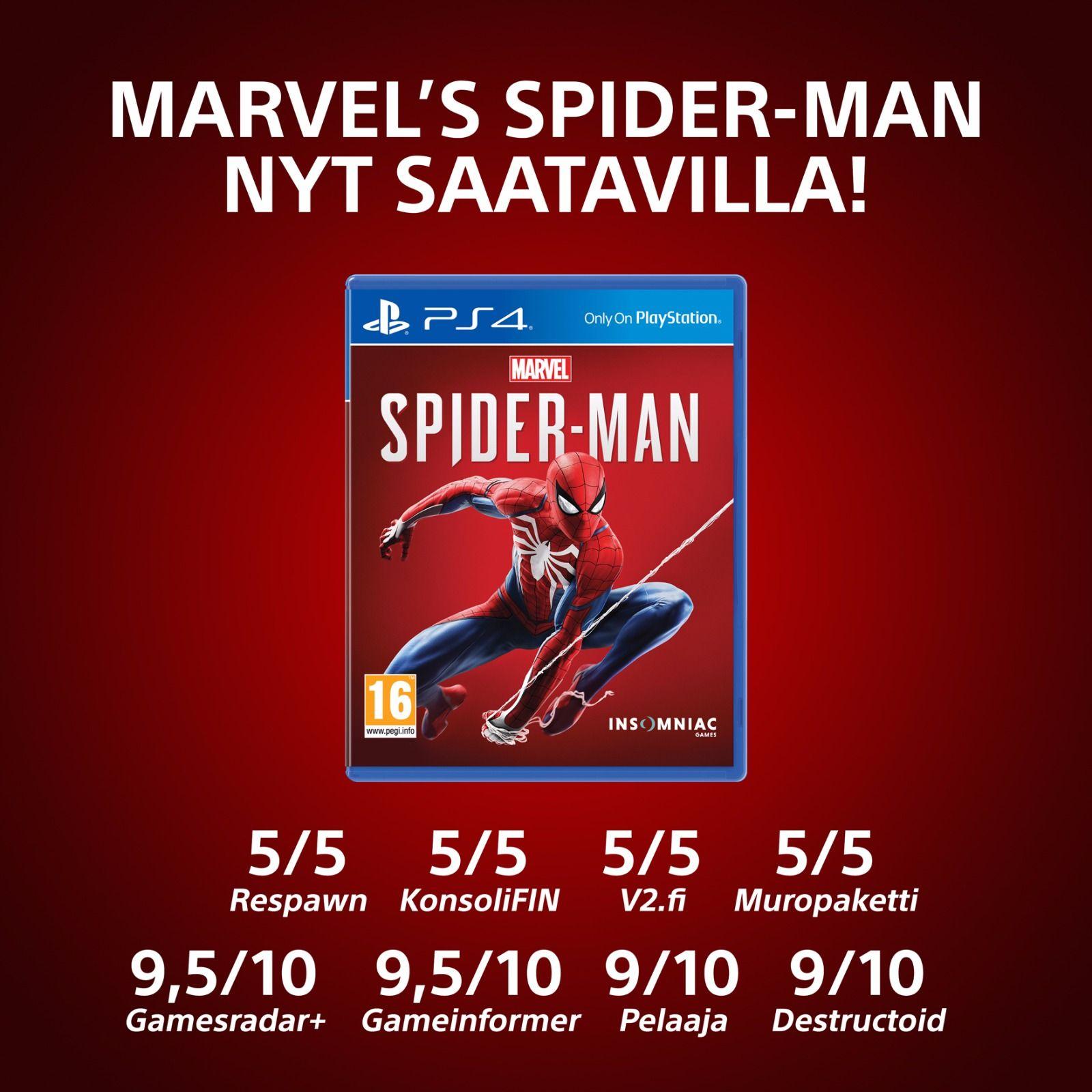 Spider-Man PS4 Arvostelut